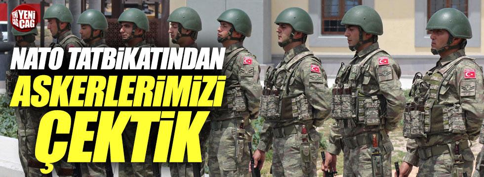 Türkiye NATO tatbikatından askerlerini çekti