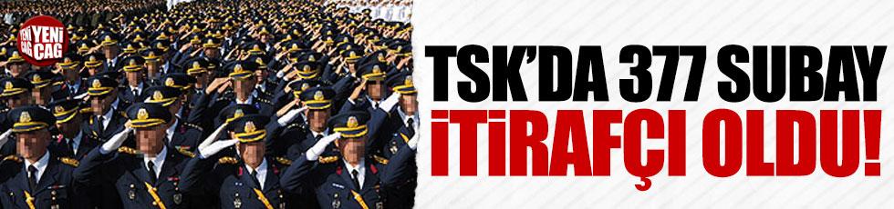 TSK'da 377 subay itirafçı oldu