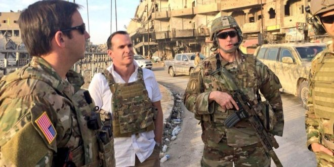 Trump'ın özel temsilcisi McGurk, Rakka'yı ziyaret etti!