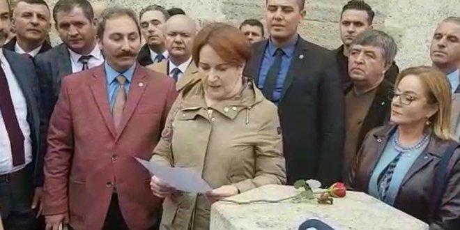 Meral Akşener Adalet Kasrına o notu bıraktı