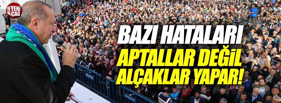 Erdoğan: Bazı yanlışları aptallar değil alçaklar yapar