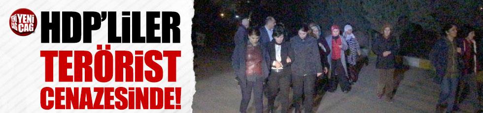 HDP'li vekiller kırmızı listedeki teröristin cenazesine katıldı