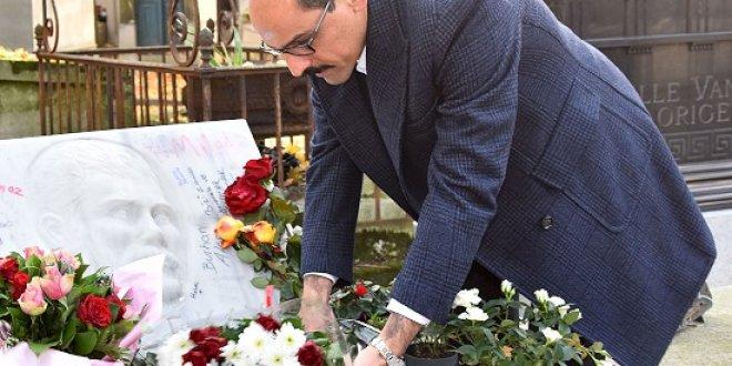 Cumhurbaşkanlığı Sözcüsü Kalın, Ahmet Kaya'nın mezarında