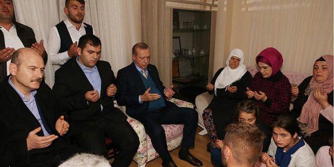 Erdoğan'dan, şehit Eren Bülbül'ün ailesine ziyaret