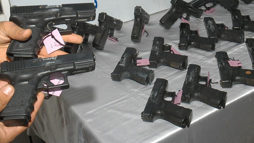 ABD'den gelen gemide 'glock' marka tabanca çıktı