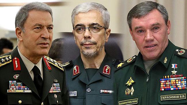 İran, Rusya ve Türkiye Genelkurmay Başkanları Soçi'de görüştü
