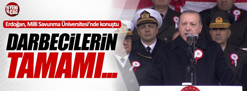 """Erdoğan: """"Darbecilerin tamamı tasfiye edildi"""""""
