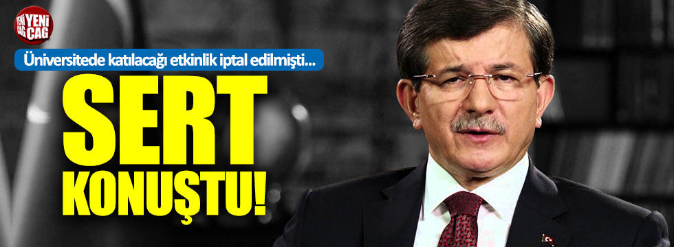 """Davutoğlu: """"Benimle öğrenciler ve gençler arasına kimse giremez"""""""
