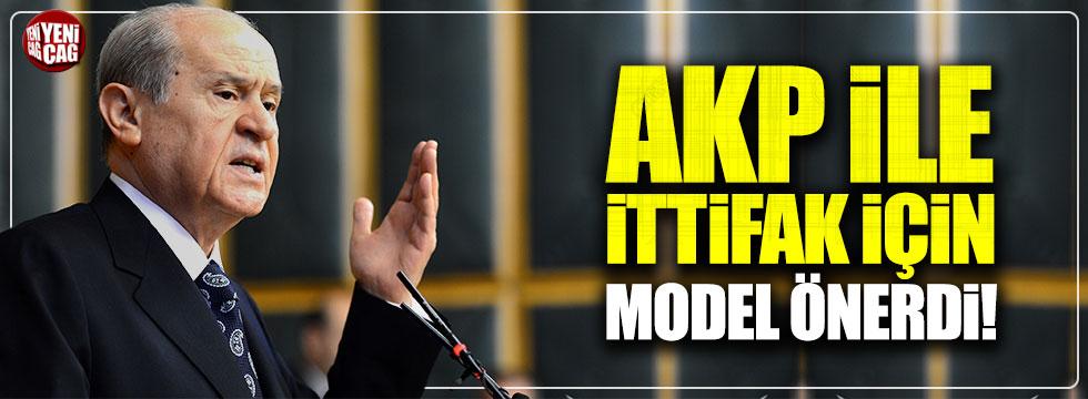 Bahçeli, AKP ile ittifak için model önerdi