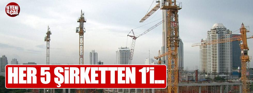 5 inşaat şirketinden 1'i kapısına kilit vurdu