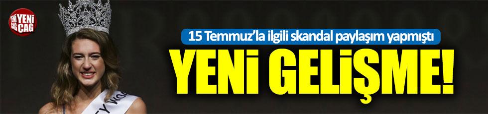 Tacı geri alınan Türkiye güzeli Itır Esen hakkında hapis istemi!