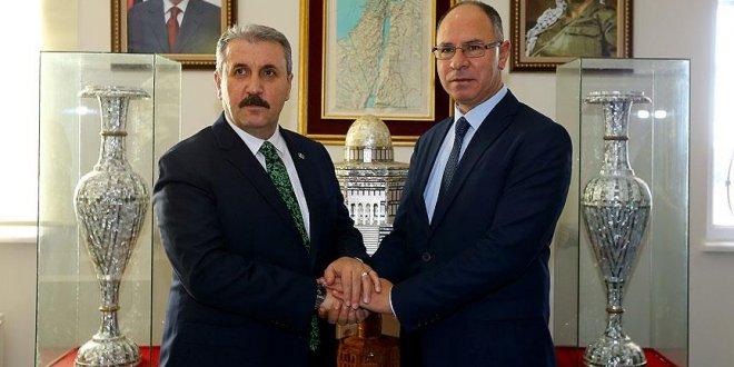 Destici'den Filistin'in Ankara Büyükelçisi'ne ziyaret