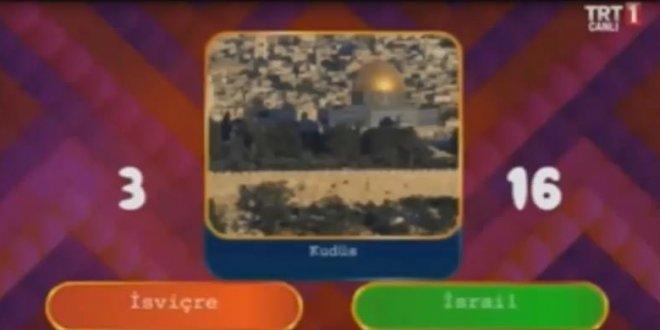 TRT'de 'İsrail'in başkenti Kudüs' skandalı