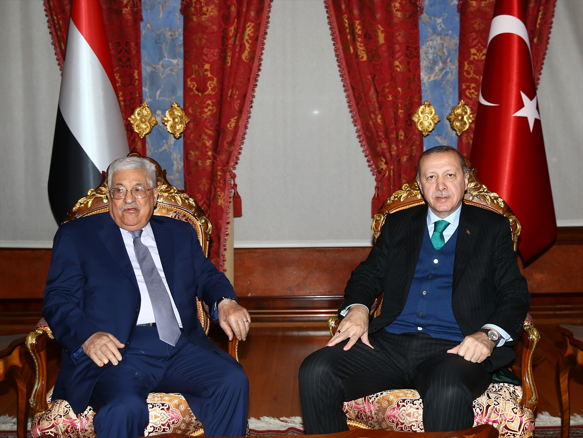 Erdoğan, Mahmud Abbas'la görüştü