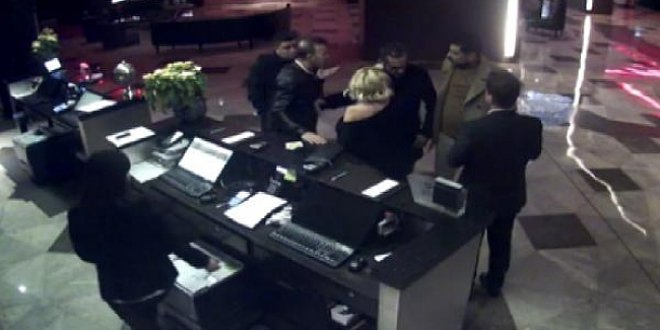 Hakan Yılmaz ve eşine otel lobisindeki saldırı anı kamerada