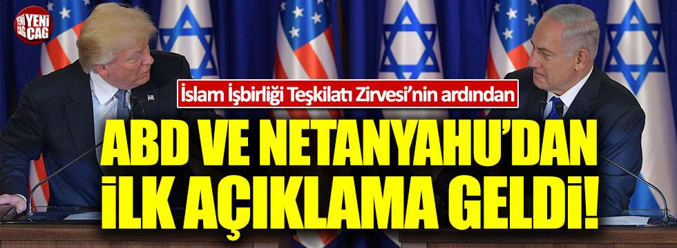 ABD ve Netanyahu'dan Kudüs'le ilgili açıklama