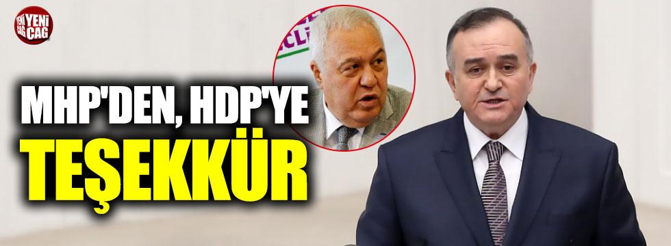 MHP'den HDP'li Celal Doğan'a Teşekkür
