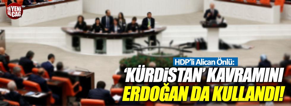 HDP'li Önlü: 'Kürdistan' kavramını Erdoğan da kullandı!