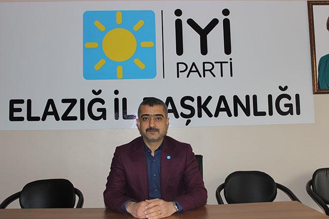 İYİ Parti Elazığ İl Başkanı Abdulvahap Erdem'den önemli açıklamalar