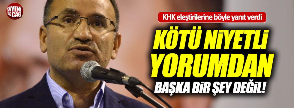 Başbakan Yardımcısı Bozdağ'dan KHK açıklaması