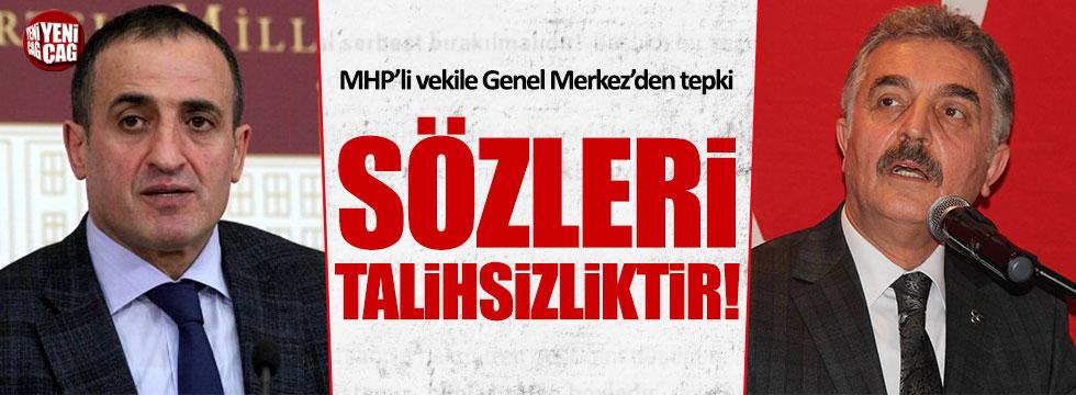 MHP Genel Sekreteri İsmet Büyükataman'dan Atila Kaya'ya tepki