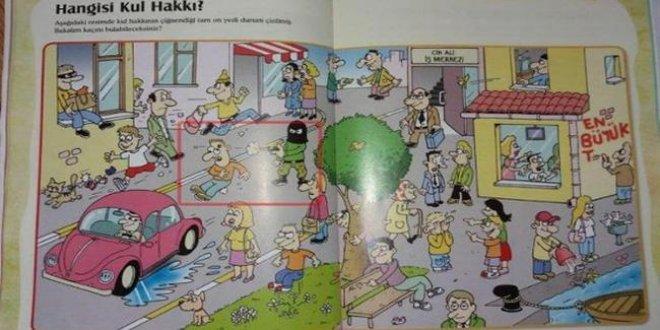 İlkokul dergisinde 'kafaya kurşun'