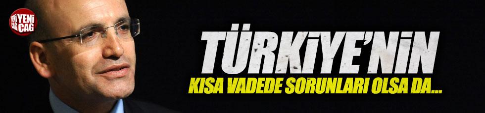 """Şimşek, """"Türkiye'nin kısa vadede sorunları olsa da..."""""""