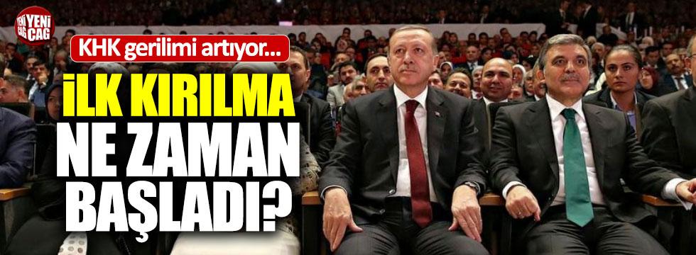 AKP-Gül gerilimi artıyor
