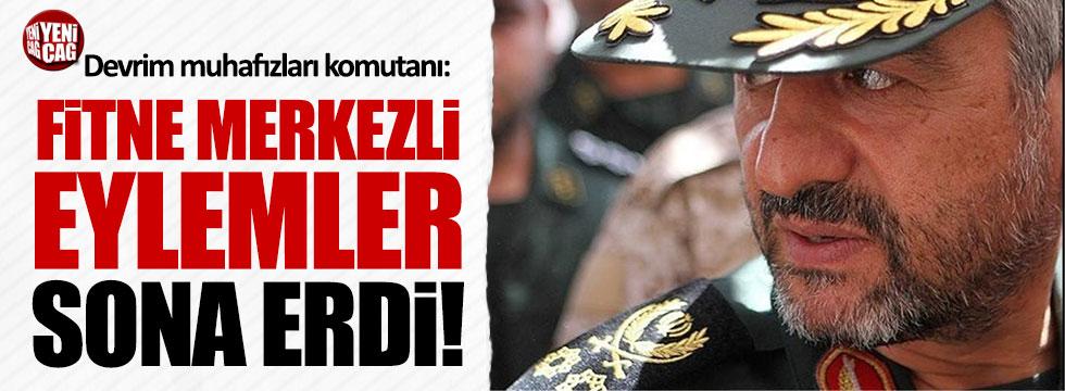 Devrim Muhafızları Komutanı: Eylemler sona erdi