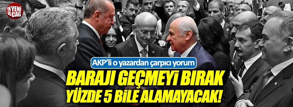 """Ocaktan: """"Bahçeli'nin tek kurtuluş yolu AKP listesinden seçime girmek"""""""