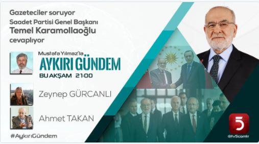 Ahmet Takan TV 5'e konuk oluyor