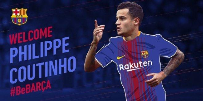 Coutinho 160 milyon euro'ya Barcelona'da