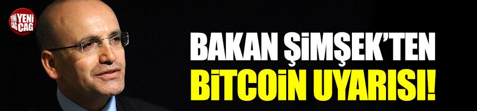 Başbakan Yardımcısı Mehmet Şimşek'ten Bitcoin uyarısı