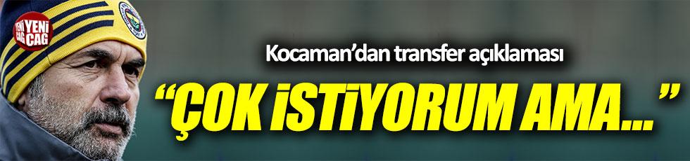 Aykut Kocaman'dan transfer açıklaması