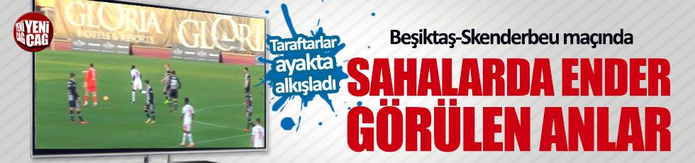 Beşiktaş Skenderbeu maçında sahalarda ender görülen anlar