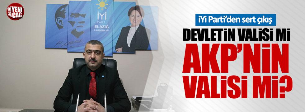 "İYİ Partili Erdem: ""Devletin valisi mi AKP'nin valisi mi?"""