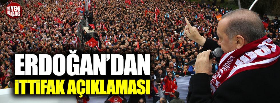 """Erdoğan: """"MHP ile mutabakat yeni bir dönemin önünü açacak"""""""