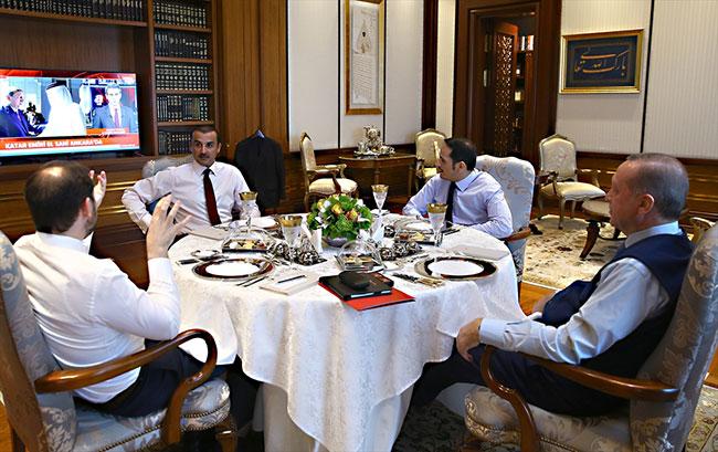 Erdoğan'la El Sani arasındaki görüşmede dikkat çeken detay