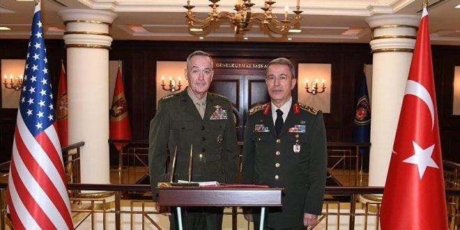 Akar, ABD'li mevkidaşı Dunford ile görüşecek
