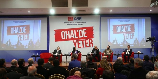 CHP'den 'OHAL'de Yeter Forumu' sonuç bildirgesi