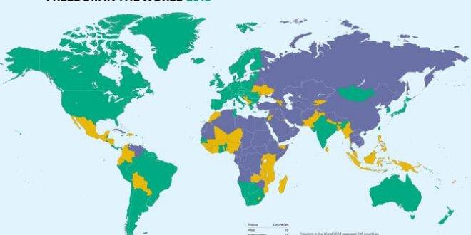 Türkiye ilk kez 'özgür olmayan' ülkeler arasında