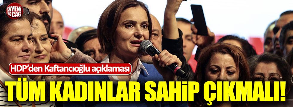 HDP'den Canan Kaftancıoğlu'na destek