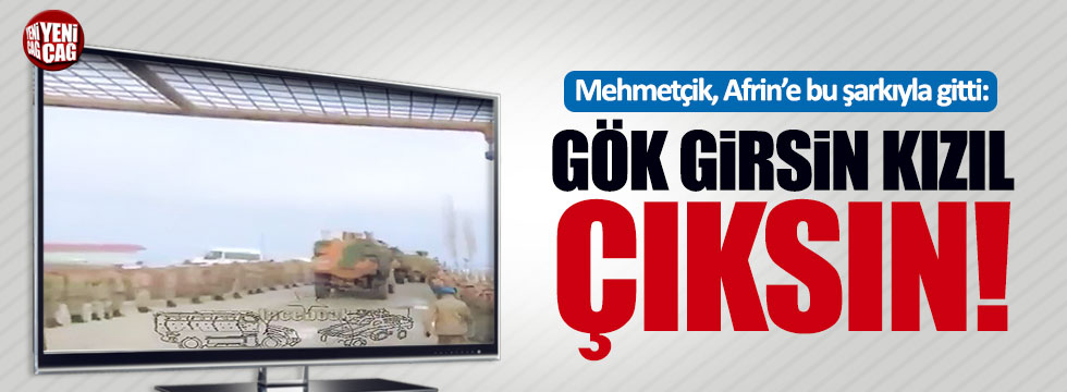 """Komandolar Afrin'e """"Gök girsin kızıl çıksın"""" şarkısıyla uğurlandı"""