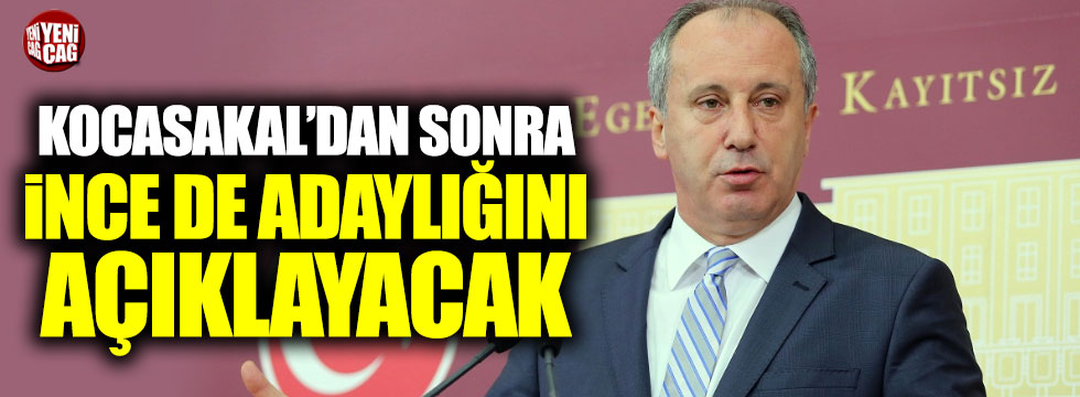 CHP'de yeni genel başkan adayı Muharrem İnce