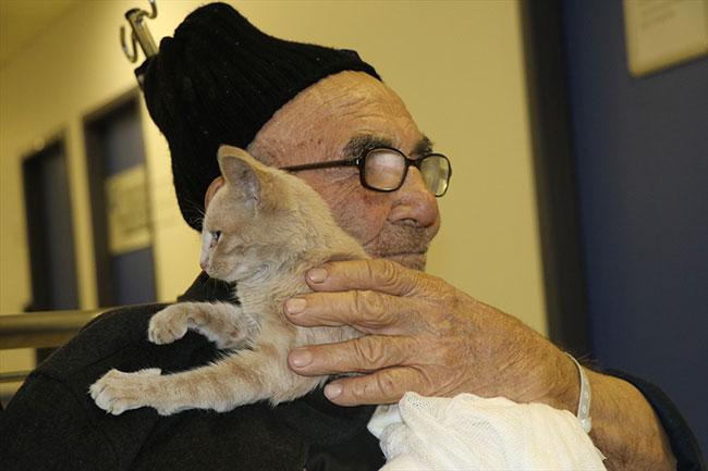 Türkiye'nin konuştuğu 'Ali dede', kedisine kavuştu