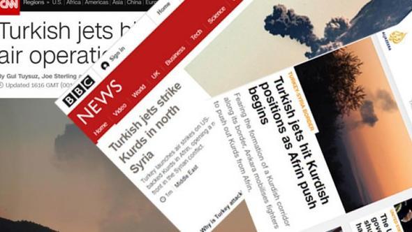 Dünya basınında Afrin operasyonu