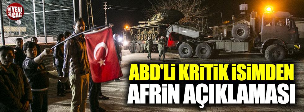 CENTCOM'dan Afrin operasyonuna destek