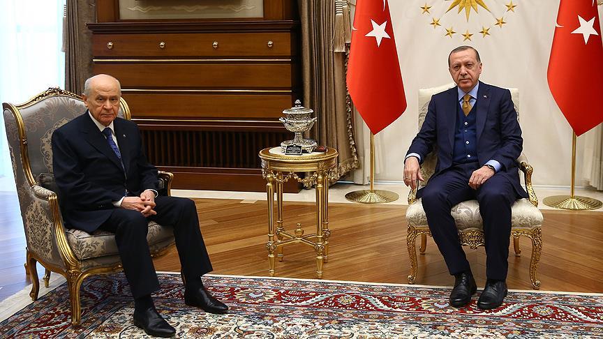 Erdoğan ve Bahçeli arasında Afrin görüşmesi