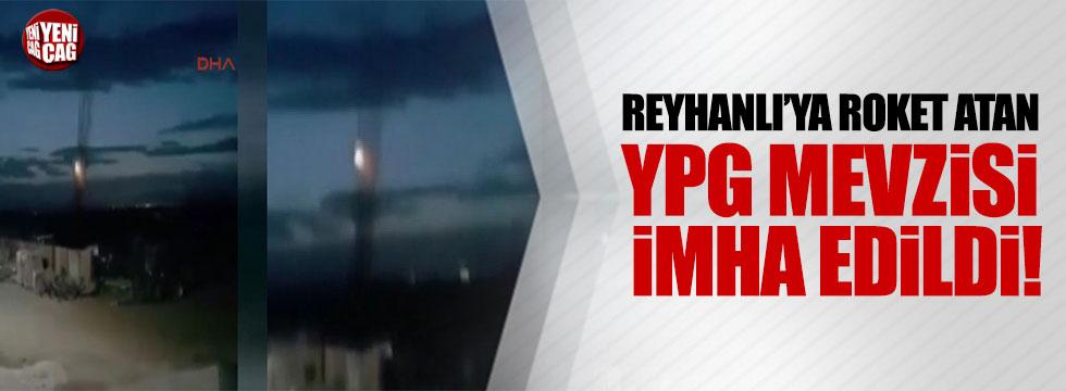 Reyhanlı'ya roket atan YPG mevzisi imha edildi
