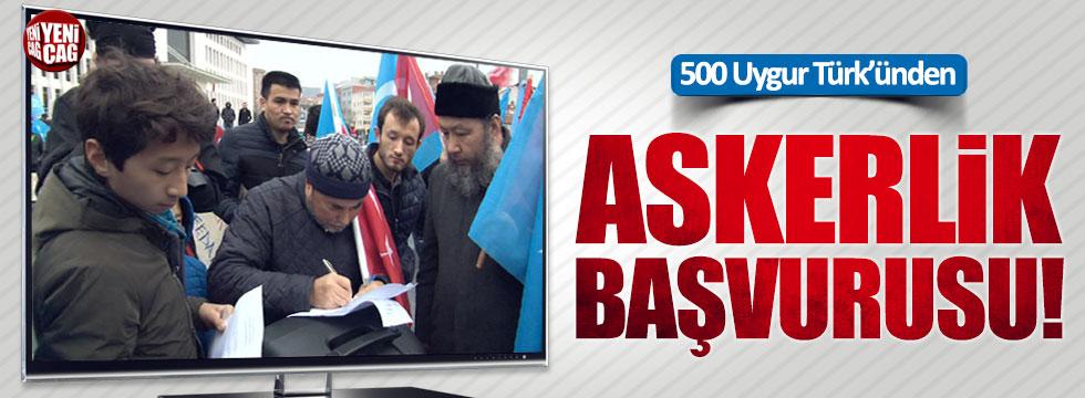 500 Doğu Türkistanlı, gönüllü askerlik için başvuruda bulundu